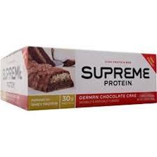 supreme protein 30g protein bar german chocolate cake 30g