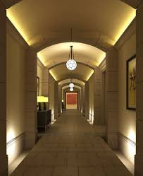 Fancy Ceiling Lights Corridor With Fancy Ceiling Lights 3d Cgtrader