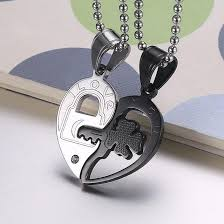 heart puzzle necklace images Fashion accessories jewelry gift titanium two half heart puzzle jpg