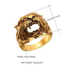 cool jewelry rings images Cool tiger head ring jpg