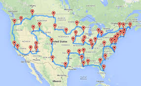 map trip road trip map major tourist attractions maps