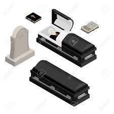 black casket funeral set dead in coffin open black casket with dead