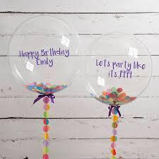 personalised birthday confetti filled balloon by bubblegum