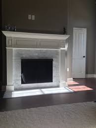 fireplace marble tile