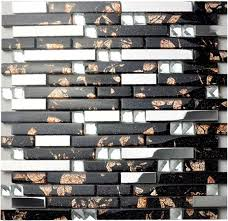 glass tile backsplash interlocking metallic mosaic diamonds 2 59