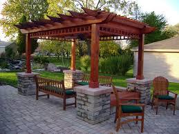 garden outdoor inspiring pergola plans for more beautiful yard