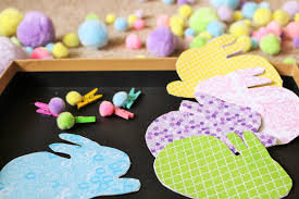 Matching Colors Color Matching Bunny Tails Spring Fine Motor Activity