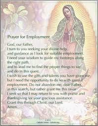 prayers prayer for employment free catholic prayers and