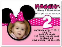minnie mouse 2nd birthday invitations blueklip com