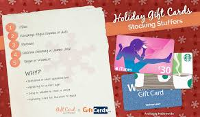 Ideas For Stocking Stuffers The Top 5 Stocking Stuffer Gift Cards Gift Card Girlfriend
