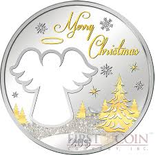 niue island happy christmas 1 silver coin 2015 unique star shape