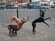 greyhound sculptures in the high stockton on tees pup