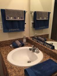 dallas cowboy bathroom re design dallas cowboys pinterest