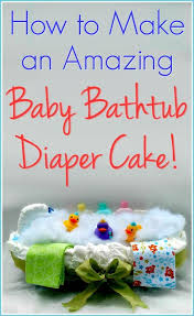 Unique Gift Ideas For Baby Shower - how to make a baby bathtub diaper cake with step by step