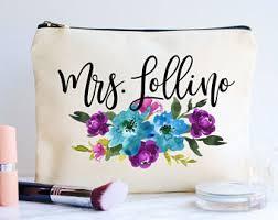 bridal makeup bag makeup bag etsy