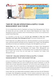 take online class for me onlineclasshero take my onlin enbsp operations supply chain m