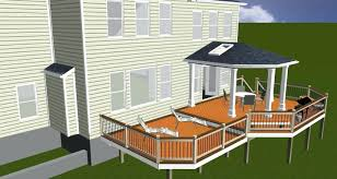 composite deck with screened porch in mo by new house decking and