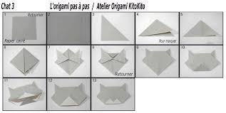 origami halloween chat 3 pour