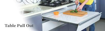 Table Pull Out Modern Kitchen Modular Kitchen Signet Kitchen - Kitchen pull out table