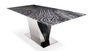 malbec and marble polished stainless steel dining