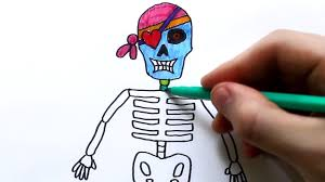 how to draw human skeleton colouring page for kids youtube