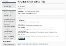 roe payroll extract canada ca