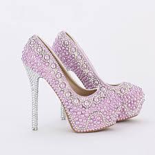 Wedding Shoes Luxury Aliexpress Com Buy 2016 New Handmade Fashion Purple Pearl