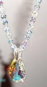 all swarovski crystal necklace images Ab swarovski crystal necklace and drop pendant long swarovski jpg