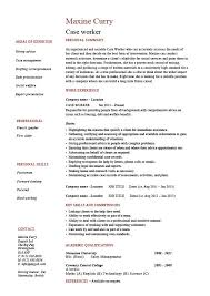 Sample Resume For A Social Worker by Case Worker Resume Social Sample Example Templates Job