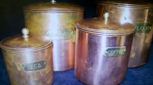 ebay antiqueset 4 antique metal canisters copper brass ebay antiqueset 4 antique metal canisters copper brass stainless steel b m ro korea