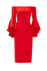 flame red selena slit dress by milly for 75 rent the runway