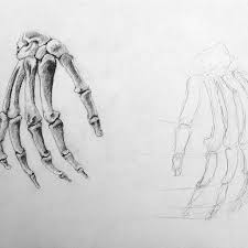 hand skeleton tattoo sketch photo 1 real photo pictures