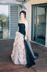 and black wedding this wore a black wedding dress for california winery