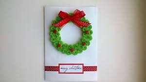 beautiful christmas cards how to make a beautiful christmas card with a wreath diy crafts