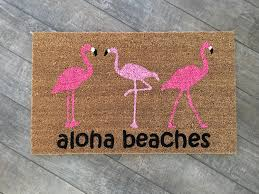 flamingo doormat pineapple decor funny doormat custom