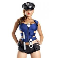 Womens Costumes Womens Cop Costume 8 Piece Costume Set Halloween Stripper