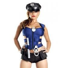 womens cop costume 8 piece costume set halloween stripper