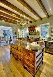 kitchen theme ideas french kitchen with wooden island with drawers