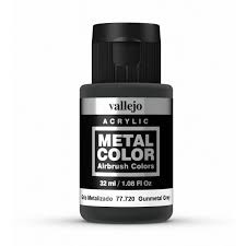 vallejo acrylic metal colors gunmetal grey 32ml