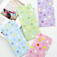 polka dot stationery 5 pcs lot new candy color polka dot envelopes creative novel and