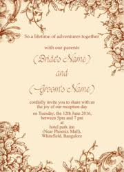 indian wedding reception invitation wording reception function invitation cards design print and send