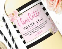 hostess gift wine labels baby shower hostess gift bridal