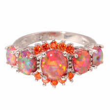 fire opal rings images Green and orange fire opal rings jpg