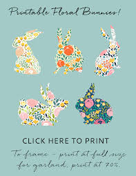 floral bunny easter garland finding home farms