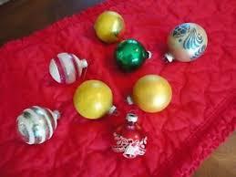 8 vintage shiny brite tree ornaments glass ebay