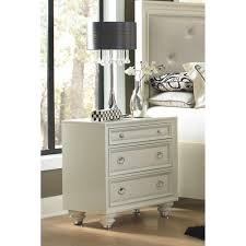 furniture modern style of white lacquer nightstand completing