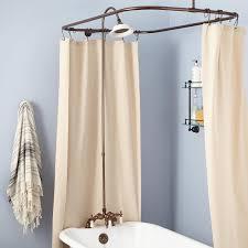 rim mount clawfoot tub shower kit variable centers bathroom