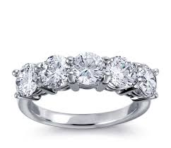diamond jewelry rings images Classic five stone diamond ring in platinum blue nile
