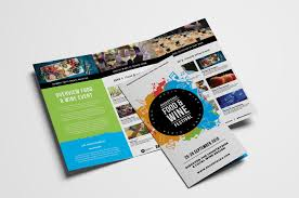 wine brochure template free tri fold brochure template for events festivals psd ai