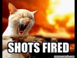 Shots Meme - shots fired cat meme youtube